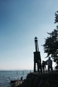 今年は出島灯台の付近が人気スポットでした