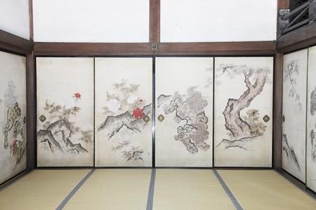 森川許六筆と伝わる襖絵 (撮影:津田睦美研究員)