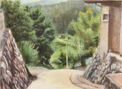 庄司紀恵子さん『坂の街』(絵画)