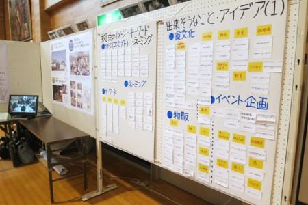 これまでの仰木活性化で取り組んだワークショップの報告も展示
