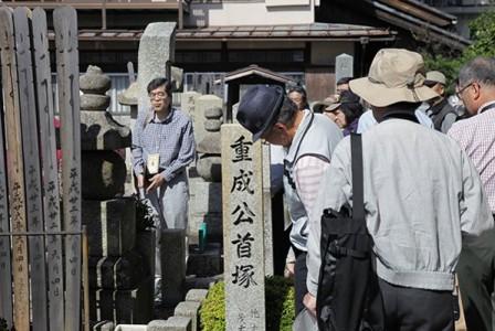 木村重成の首塚(撮影:津田睦美研究員)