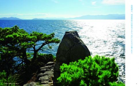 琵琶湖の4つの島のひとつ「多景島」から。 写真:寿福滋
