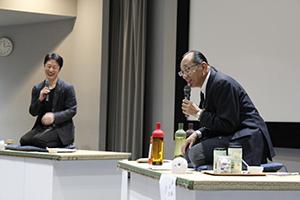 片木明氏と真下武久研究員