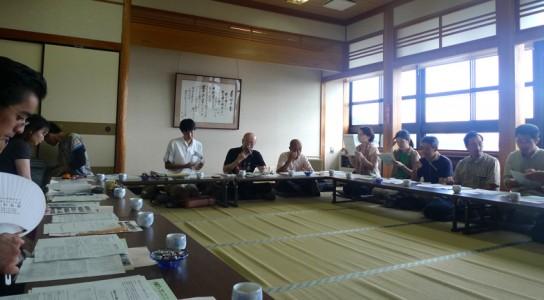 就航式 景色のいい沖島小学校の和室で行われました。