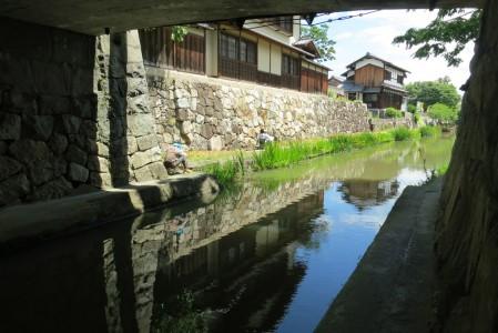 近江八幡・八幡掘と城下町写生会の様子