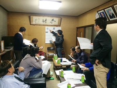 大津北商工会の役員メンバーも一緒に、コースを検討していきました
