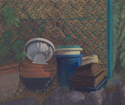 市橋 香織「植木鉢のある風景」