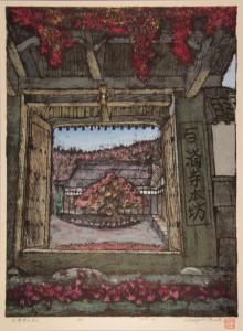 鯰江浅樹さん『百済寺の秋』(絵画)