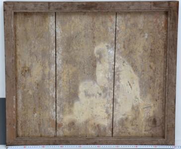 復元模写にとりくむ日吉大社蔵 長沢芦雪筆「猿図」絵馬