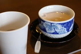古代米をつかったおぜんざいとお番茶