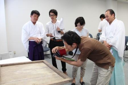 日吉大社の井口禰宜、須原権禰宜も取材を受けていただきました