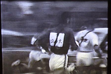 岸野さんが提供した8ミリフィルム「琵琶湖一周大学駅伝」の一場面