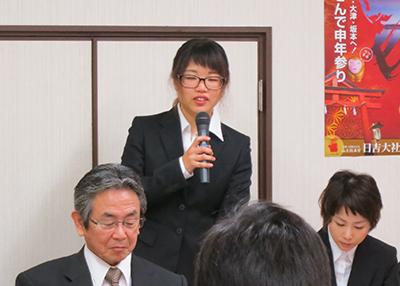 美術領域日本画コース3年生 橋爪千夏さん