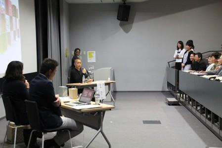 現在たねやでデザインを担当する本学卒業生3名も紹介されました
