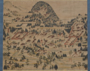 紙本彩色「日吉山王宮曼荼羅図」(一部)