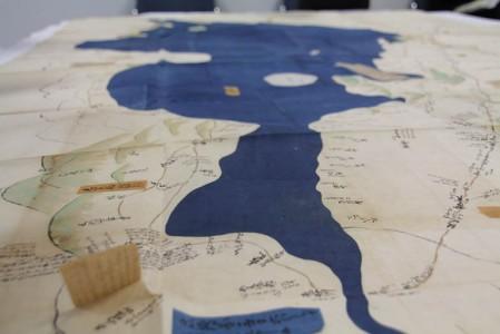 北湖より南湖が詳細に描かれている