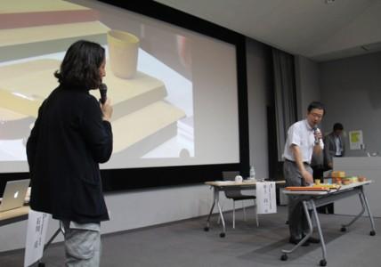 彦根仏壇の新たなブランドとして取り組む「chanto」について説明する講師たち