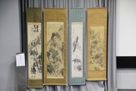 石丸先生所蔵の横井金谷画の掛軸